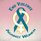 End violence again women Stock Photos