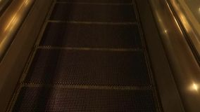 End of Walkway. The end of a moving walkway at an airport stock video footage