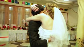 End of the wedding dance stock video