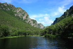 End of Western Brook Pond Stock Images