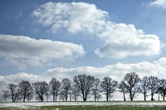 End of winter landscape Royalty Free Stock Photos