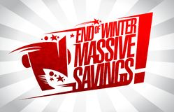End of winter massive savings sale banner. End of winter massive savings, sale vector banner concept Stock Photo