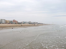 End of winter season in Rimini, Italy - beach without people Royalty Free Stock Photos