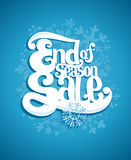 End of winter season sale illustration. Stock Photography