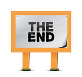 The end wood sign illustration design Royalty Free Stock Image