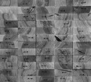 End wood stamp system hardwood oak Stock Images