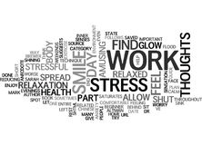End Work Related Stress Word Cloud Concept Stock Photo