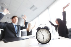 End of workday. Team rejoices at the end of workday Stock Photography