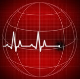 The end of the world. Cardiogram. Disease of the world Royalty Free Stock Photos