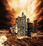 The end of the world. The end of the world montage Royalty Free Stock Photos