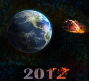End of the world 2012 illustration. Doomsday Royalty Free Stock Photos