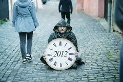 End of the World is comming. Man is waiting for end of the world Stock Image