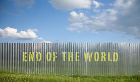 End of the world fence Royalty Free Stock Photography
