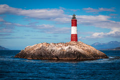 End of the World Lighthouse, in Ushuaia, Argentina Stock Photo