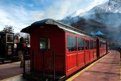 End of World Train, Tierra del Fuego, Argentina. Tren fin del Mundo - The End of the World Train, Tierra del Fuego, Patagonia, Argentina Stock Photos