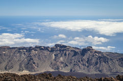 The end of the world. View fron Teide volcano on Tenerife Stock Photos