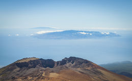 The end of the world. View fron Teide volcano. Stock Images