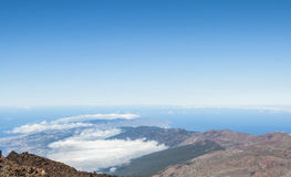 The end of the world. View fron Teide volcano. Royalty Free Stock Images