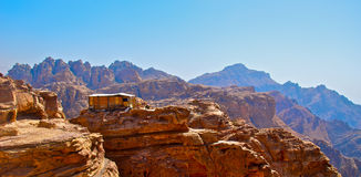 End of the world watchtower. Ancient city of Petra is very important place for jordanian tourism industry cause so many people from all over the world coming to Royalty Free Stock Photography