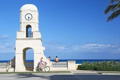 End of Worth Avenue in Palm Beach Stock Images