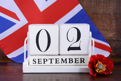 End of WWII 2 September 1945 Calendar Date Stock Photography