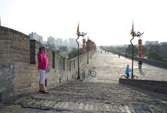 The End Of Xian City Wall Royalty Free Stock Photos