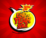 End of year biggest sale design. Stock Image