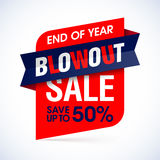 End of year blowout sale banner Stock Photography