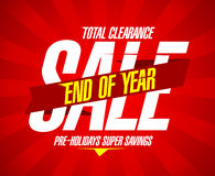 End of year clearance design in retro style. Royalty Free Stock Photo