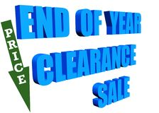 End of year clearance sale Stock Photos