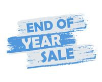 End of year sale Royalty Free Stock Photo