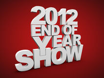 End of year show 2012. End of year show over red background Royalty Free Stock Photos