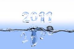 End of year splash 2010 Stock Photos