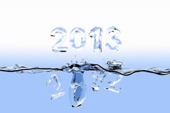 End of year splash 2012 Royalty Free Stock Photography