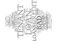 End Your Financial Troubles With Bad Credit Tenant Loan Word Cloud Concept. End Your Financial Troubles With Bad Credit Tenant Loan Text Background Word Cloud Stock Photo