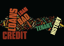 End Your Financial Worries With Bad Credit History Tenant Loan Word Cloud Concept. End Your Financial Worries With Bad Credit History Tenant Loan Text Background Stock Photo