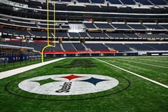End zone dello Steelers di Super Bowl dello stadio del cowboy Fotografie Stock