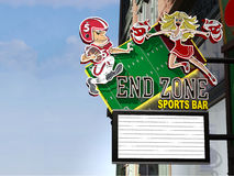 End Zone Sports Bar Royalty Free Stock Photo