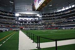 End zone y campo del Super Bowl del estadio de los vaqueros Fotos de archivo