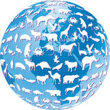 Endangered animals global Royalty Free Stock Images