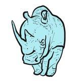 Endangered rhino outline illustration Stock Photo