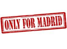 Endast för Madrid stock illustrationer