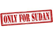 Endast för Sudan vektor illustrationer