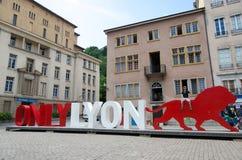 Endast Lyon tecken arkivfoton