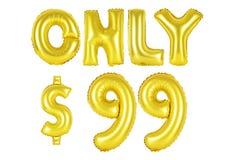 Endast nittionio dollar, guld- färg Royaltyfria Foton