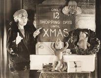 Endast 12 shoppa dagar till Xmas Royaltyfria Bilder