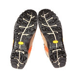 Endast skor för nytt spår på en vit bakgrund Royaltyfri Fotografi