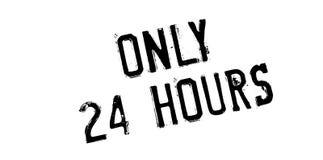 Endast 24 timmar rubber stämpel Arkivfoto