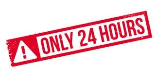 Endast 24 timmar rubber stämpel Arkivfoton