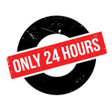 Endast 24 timmar rubber stämpel Royaltyfria Foton